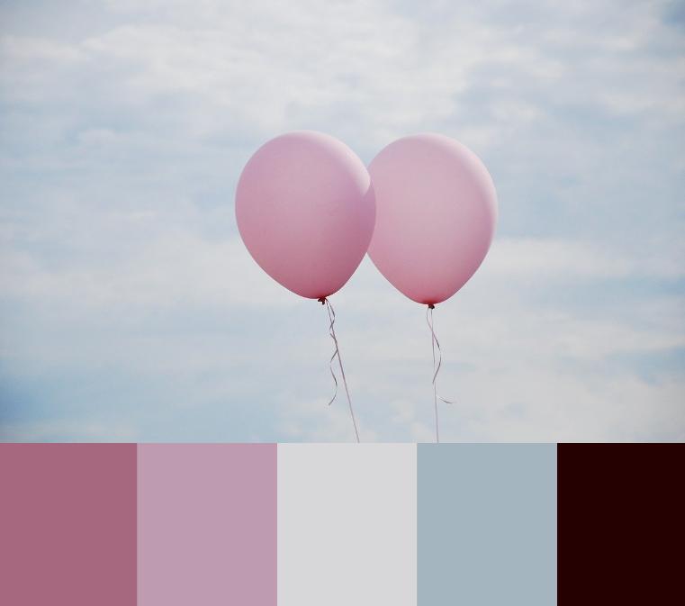 Varme pink farver som modvægt til kølig blå