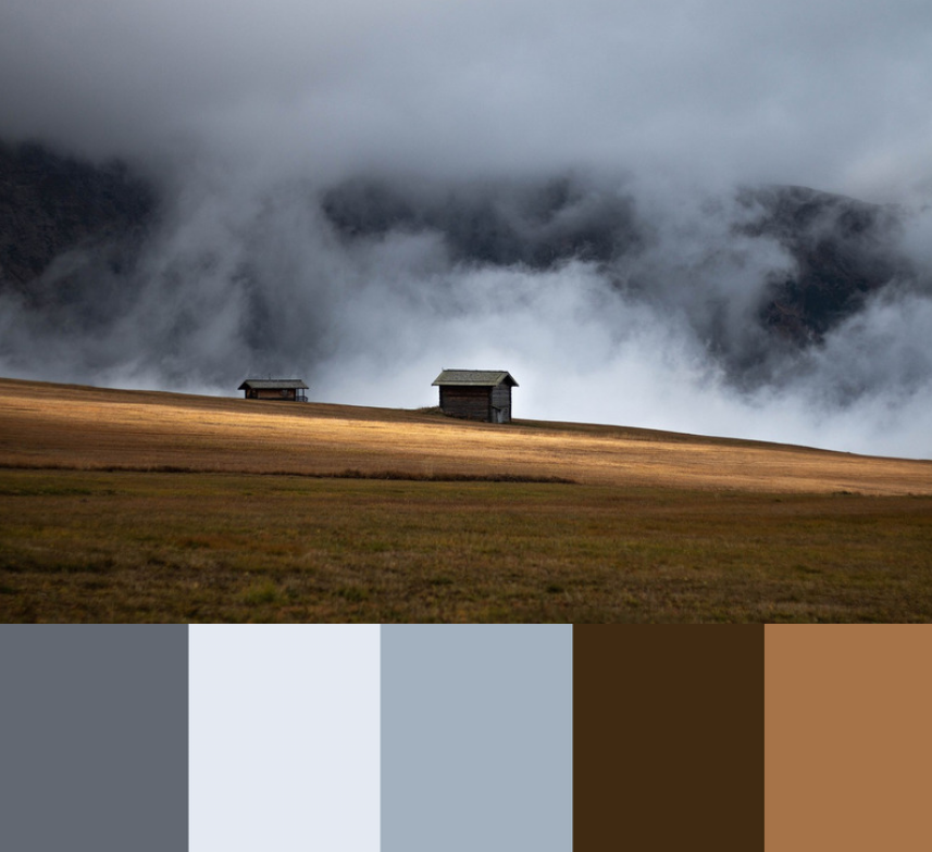 Blå og brun er en klassisk farvekombination