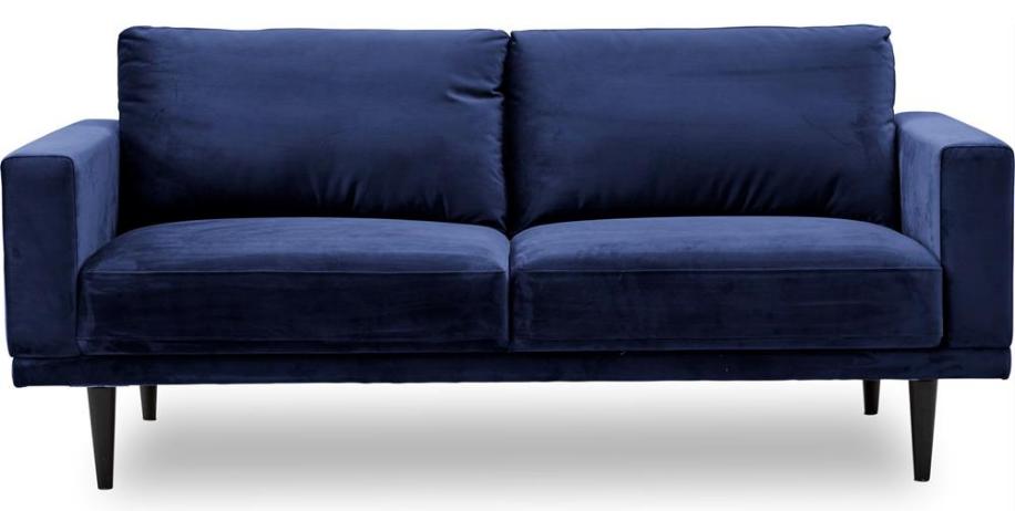 Blå sofa i stramt og minimalistisk design