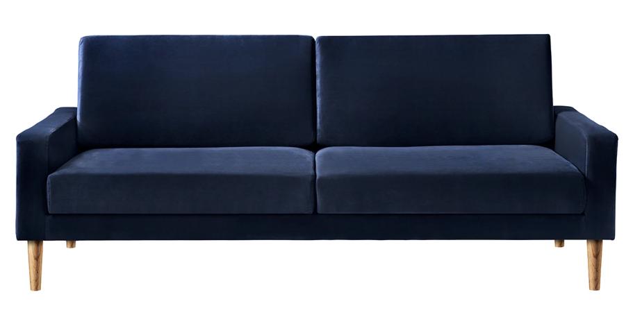 Dejlig velour sofa i mørk blå til 3 personer