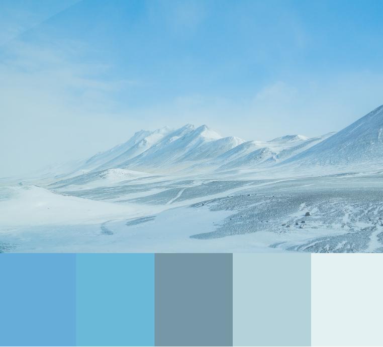 Kølige blå nuancer
