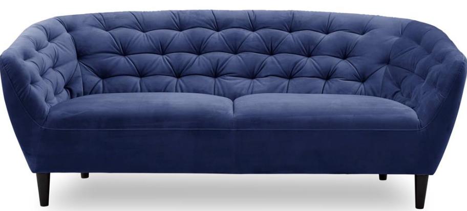 Flot og moderne blå sofa til 3 personer