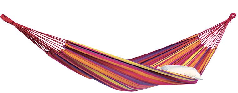 Hængekøje med striber i varme farver
