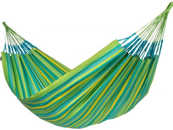 Kingsize-hængekøje med grønne striber