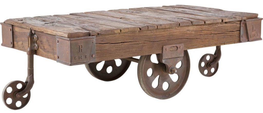 Railway sofabord med hjul